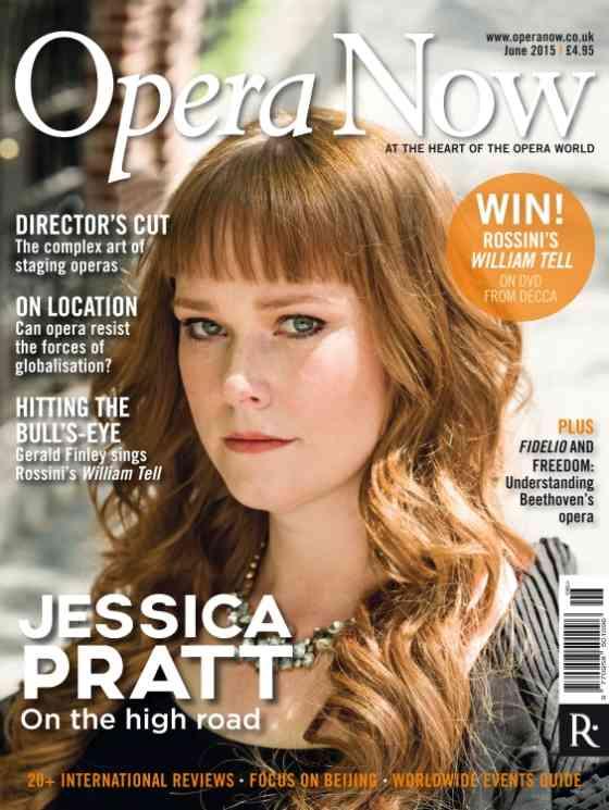 Jessica Pratt su Opera Now: Opera Now: Cover Page
